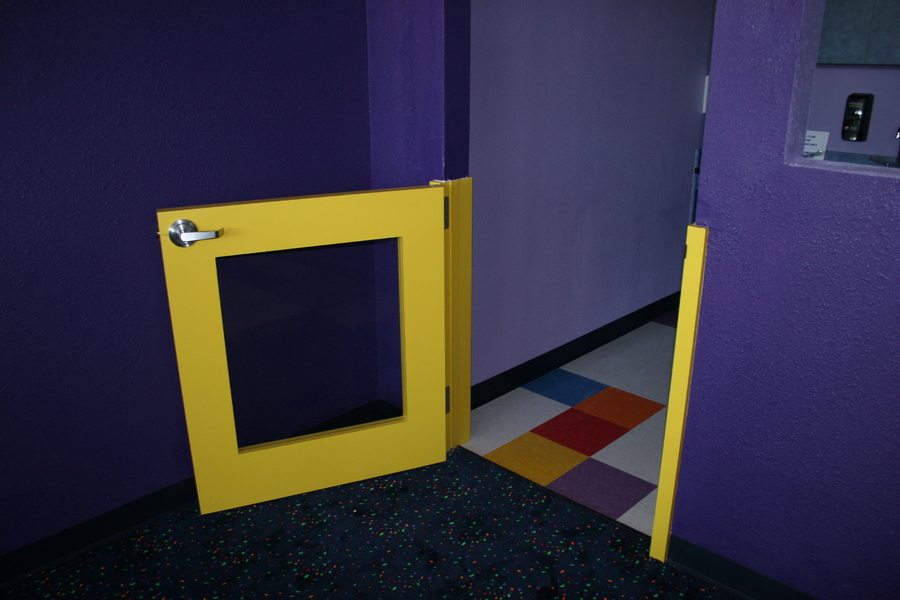 Half Doors with tempered glass insert for child visability and safty : Daycare Centers and Products  : PHOENIX Millwork: Millwork Laminate Cabinets and Casework for Commerical and Residential use in Texas and surrounding states